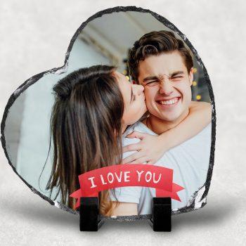 piatra personalizata inima i love you